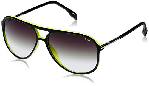 IDEE UV Protected Aviator Sunglasses (IDS1897C659SG|59|Black and Green ) image