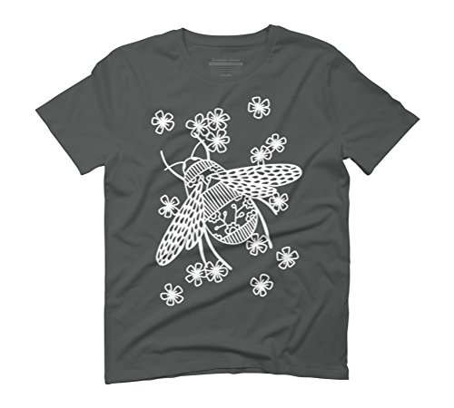 Bees Papercut Men's Graphic T-Shirt - Design By Humans Anthracite