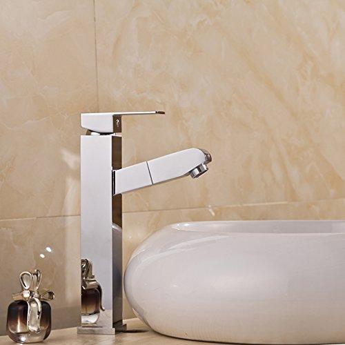 Tous Copper Hot And Cold Basin eau du robinet peut tirer un robinet de bassin Single Hole Bathroom Faucet Lavabo