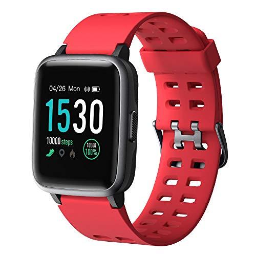 YAMAY Smart Watch, fitness tracker, touch screen, impermeabile IP68, orologio fitness con cardiofrequenzimetro, contapassi, monitoraggio del sonno, cronometro, unisex, per iPhone e telefoni Android