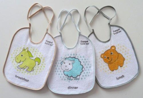 Baby-Lätzchen 3er Pack doppellagig