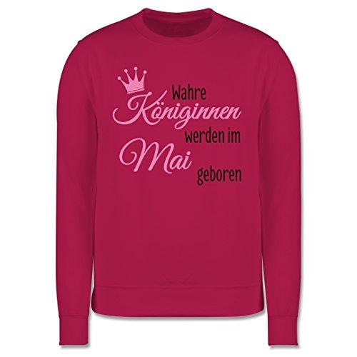 Geburtstag - Wahre Königinnen werden im Mai geboren - Herren Premium Pullover Fuchsia