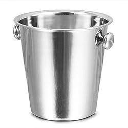 Bar@drinkstuff Tulip Wine Bucket Stainless Steel Wine Bucket, Champagne Bucket, Wine Cooler, Bottle Cooler, Bottle Chiller, Ice Bucket