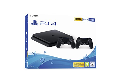 PlayStation 4 Slim 500GB E Chasis, Jet Black + 2nd Dualshock 4 [Exclusivo de Amazon.it]