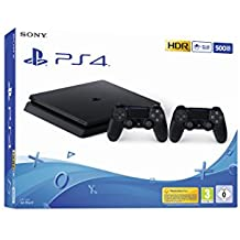 PlayStation 4 Slim 500GB F Chassis, Jet Black + 2° Dualshock 4 [Esclusiva Amazon.it]