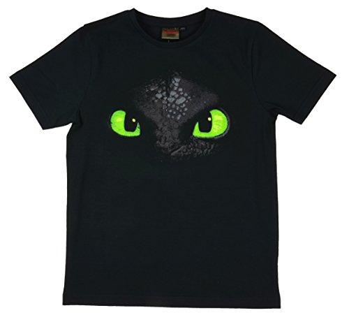 Dreamworks Dragones Camiseta Desdentao Toothless Cara, (7 - 8 años 128-134)