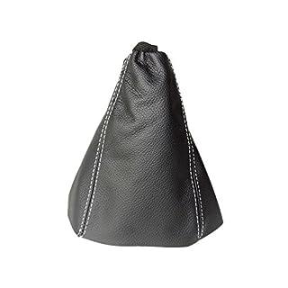 Für Citroen C8Peugeot 807Fiat Ulysse MK22002–14Schaltsack schwarz Italienisches Leder weiß Naht