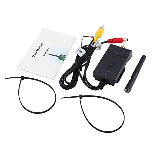 FinukGo Wireless Transmitter, WiFi Stereo Musik Transmitter Stoßfest Regendicht AV Schnittstelle Auto WiFi Transmitter mit Antenne, für Autos
