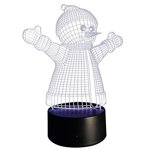 Beetest Veilleuse de Noël, Mode Mignon USB Propulsé 3D LED Noël Nuit Lumière Lampe pour Boutique Boutique Café Restaurant Bar Vacances Maison Chambre Décoration Bonhomme De Neige