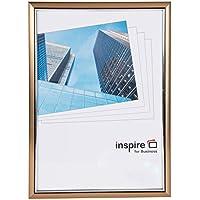 Inspire For Business - Cornice per foto o poster, formato A4, colore: bronzo - A4 Verticale Parete