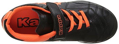 Kappa - 4 Soccer Player Tg Ev, Scarpe da Football americano Unisex – Bambini Noir (Black/Orange Fluo)