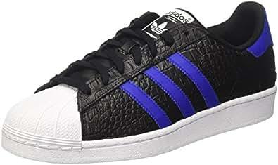adidas Herren Superstar Sneaker Schwarz (Core Black Bold Blue), 40 2/3 EU