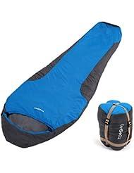 JSMeet Saco de Dormir Momia 32 ℉ Saco de Dormir para una Persona al Aire Libre