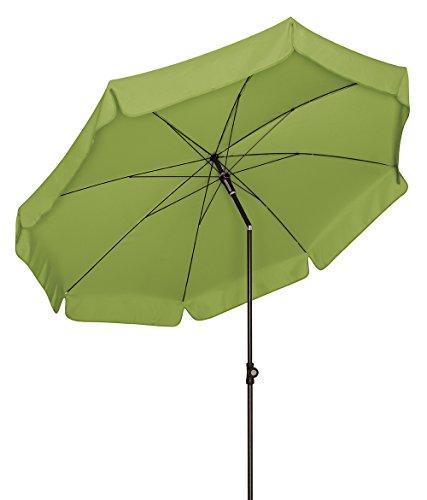 Doppler Absolut wetterfester Gartenschirm Sunline 250 Fresh Green, UV-Schutz 50 Plus und Knicker,