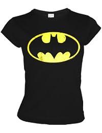 LOGOSH! rT rétro motif lOGO bATMAN-t-shirt-femme-noir-taille xS