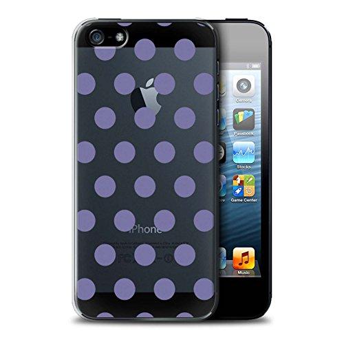 Stuff4 Hülle / Case für Apple iPhone SE / Gold Muster / Dotty Punktmuster Kollektion Lavendel Lila