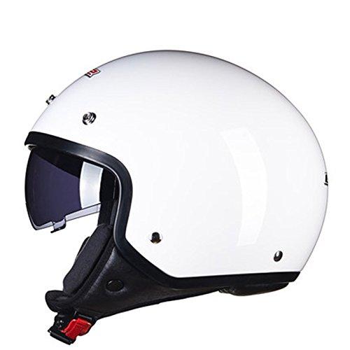 Retro Helm Motorrad Elektroauto Helm Halbschalenhelm Vier Jahreszeiten Sommer Harley Halbhelm Männer und Frauen (XL) ( farbe : # 1 )