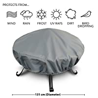 Heavy Duty Premium Large Waterproof Fire Pit Cover – Size: 131cm Diameter Approx.