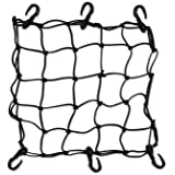 """BLACK 15"""" x 15"""" 6 HOOK BUNGEE CARGO NET STRETCHES TO 30"""" x 30"""" FOR ATV"""