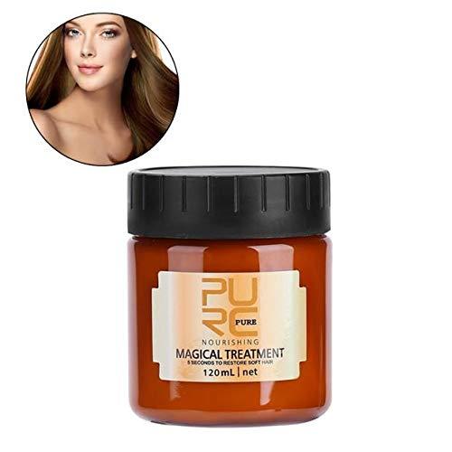 Mascarilla para el cabello, 120ml Tratamiento avanzado para las raíces del cabello molecular Acondicionador profesional para el cabello, Crema acondicionadora nutritiva con suplemento profundo mágico
