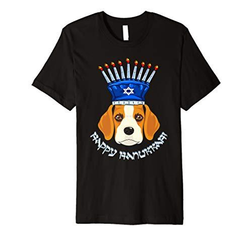 Beagle Menora Hut T-Shirt Chanukka Chanukah Shirt