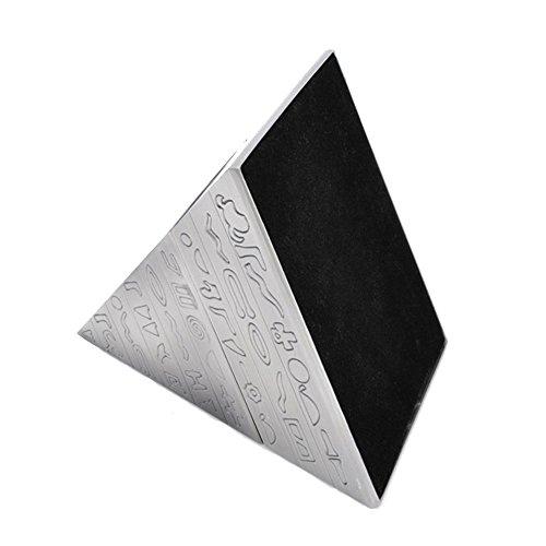 Max & Mix Creative Fashion Pyramide Aschenbecher Aschenbecher mit einem Deckel von ASCHE R ¨ ¦ Tro Carving Tablett porte-rangement Bo? Te-Aufbewahrungsbeutel Home Decor Bar für Männer Raucher silber - 4