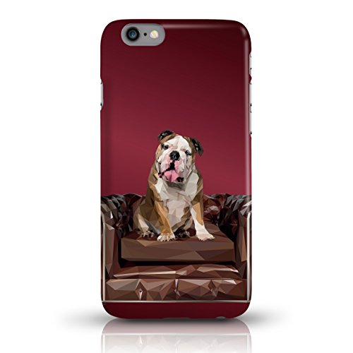 "JUNIWORDS Handyhüllen Slim Case für iPhone 6 / 6s - Motiv wählbar - ""Anker Design 1 Dunkelblau"" - Handyhülle, Handycase, Handyschale, Schutzhülle für Ihr Smartphone Bulldogge Dunkelrot"