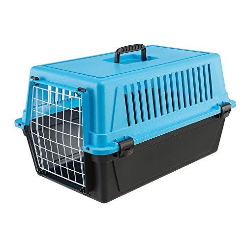 Ferplast Transportbox Atlas 20 für Hunde und Katzen bis zu 8 kg - Stabile Tragebox in Grün mit Weiß - inkl. ergonomischem Griff - Maße: 58 x 37 x 32 cm