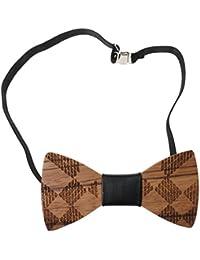 Cravate Noeud Papillon en Bois de Marié Accessoire de Mariage Mode Cravate Homme