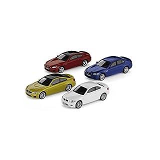 4er-Set Original BMW M Car Collection Miniatur 1:64 1er M Coupé M4 Coupé M5 M6 Coupé