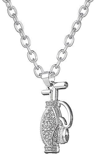 Kristall Golf Bag Sport Anhänger Halskette-Schmuck für Frauen-Mädchen