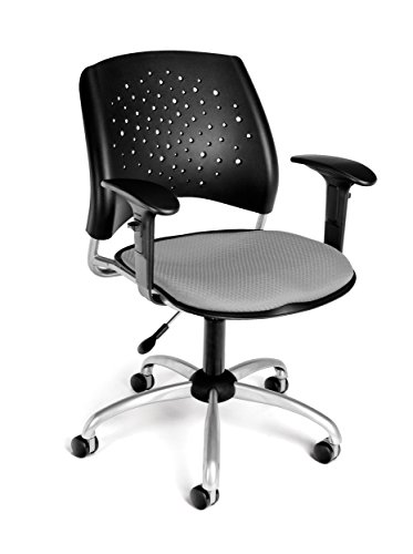 stars-adjustable-swivel-chair-w-arms-cushion-seat-putty