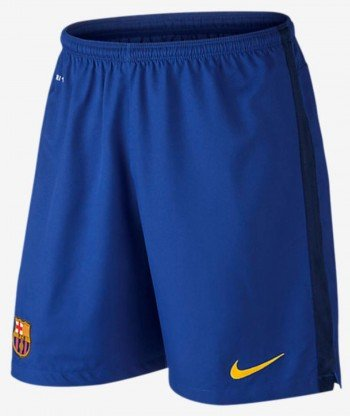 Nike FCB HA GK Stadium Short - Shorts Fußball Club Barcelona 2015/2016 Herren L Blau/Gold (Bright Blue/Loyal Blue/University Gold) -