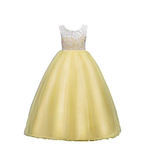 Wulide Kinder Mädchen Prinzessin Kleid Abendkleid mit