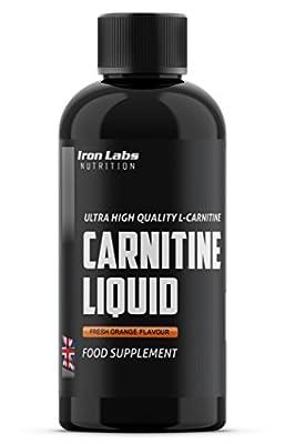 CARNITINE LIQUID   1000mg L-Carnitine x 500ml   Rapid Absorption Carnitine - Fresh Orange Flavour - Made in UK