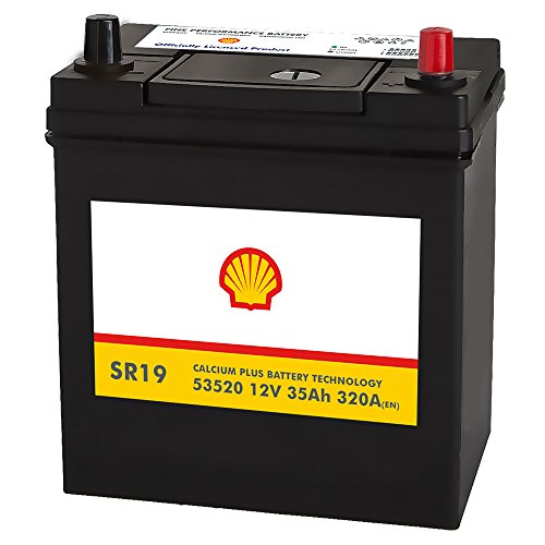 Shell SR19 Asia Autobatterie 12V 35AH 320A/EN 53520 Pluspol Rechts