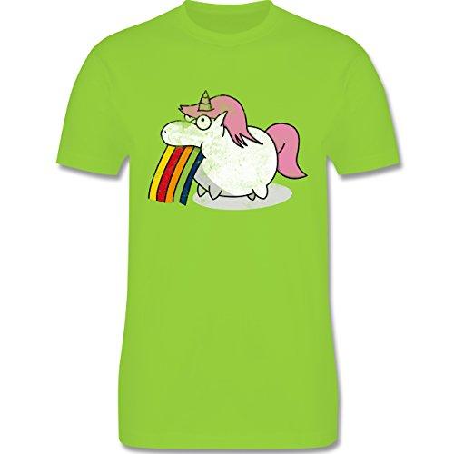 Comic Shirts - Kotzendes Einhorn Vintage - Herren Premium T-Shirt Hellgrün