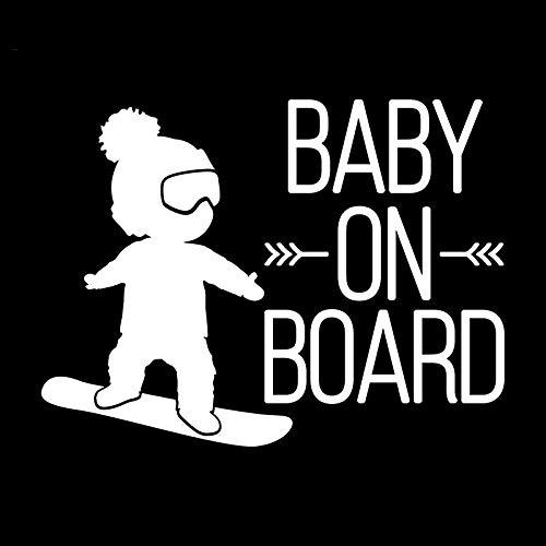 Cvxgdsfg Kreativer Kratzeraufkleber Baby ON Board reflektierender Aufkleber (Color : White)