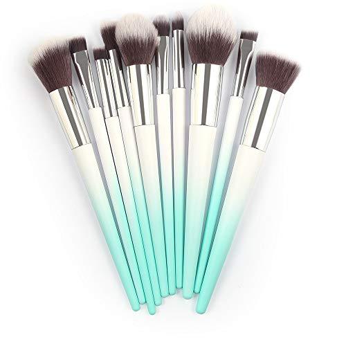 10 Stück Make-Up Pinsel Kosmetik Blush Lidschatten Pinsel Augenbraue Pinsel Lippenpinsel...