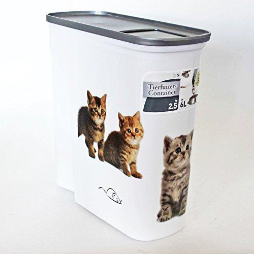 Futtercontainer Katzenbabys 6l Futteraufbewahrung Katze Tierfutter Box Futterbox Trockenfutter verschließbar