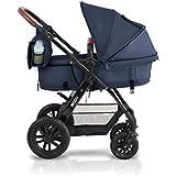KinderKraft Moov Kinderwagen Kombikinderwagen 3in1 Travelsystem mit Buggy und Babyschale