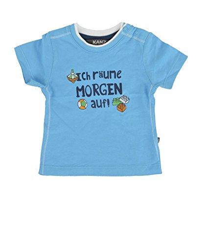 Kanz Baby - Jungen T-Shirt 1/4 Arm 1516721, mit Print, Gr. 80, Blau (aquarius|cyan 3051) (Mit 0,25)