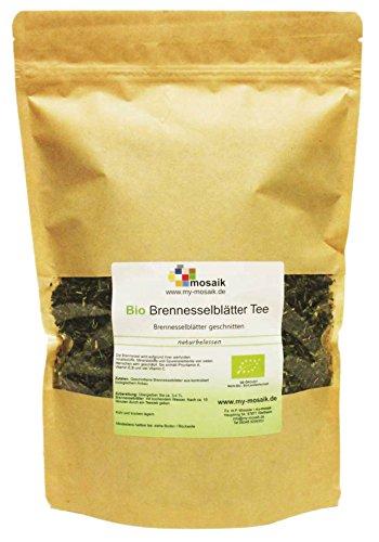 my-mosaik Bio Brennesselblättertee - 100% naturbelassen, geschnitten, ohne Zuckerzusatz, aus kontrolliert biologischem Anbau, im wiederverschließbaren Frischebeutel, abgefüllt in Deutschland (200g) (Brennessel Blätter)