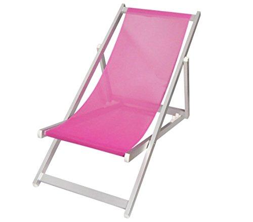 Mediawave store sedia sdraio pieghevole 3 posizioni alluminio mod. soverato in textilene (fucsia)