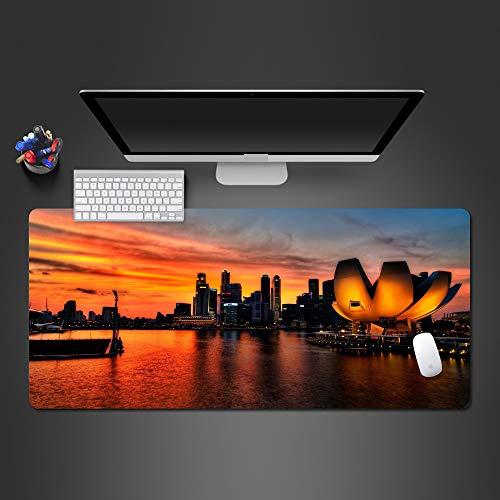 HONGHUAHUI Beste Heiße Stadt-Landschafts-Mausunterlage-Pers5Onlichkeits-Spiel-Spieler Mousepad Tabelle Zum Computer Gamibg Mousepad Bestes Weihnachtsgeschenk,600x300x2mm