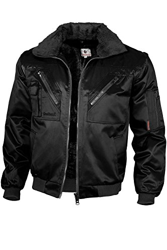 Qualitex - Pilotenjacke 4 in 1, Schwarz , S