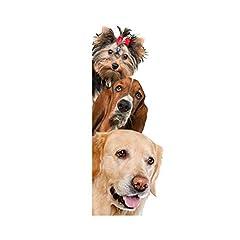 Idea Regalo - Ruiting 3D Adesivo murale per Cani Adesivo da Parete per Camera da Letto, Soggiorno Rimovibile Puppy Wall Art Paper