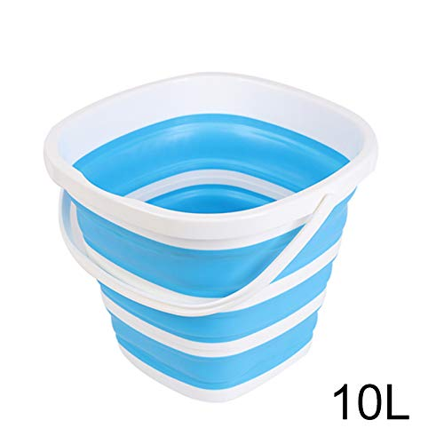 Alexsix Collapsible Plastic Bucket Foldable Square Tub Portable Fishing Water Pail Outdoor -