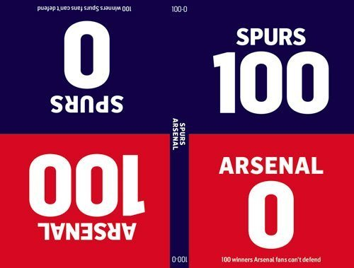 100-0: Arsenal-Spurs/Spurs-Arsenal by Glynne-Jones, Tim, Brooks, Will (2014) Hardcover