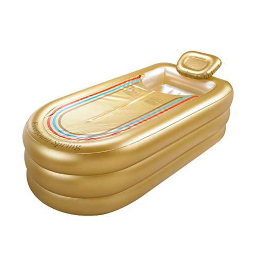 Umweltfreundliche aufblasbare Plastikbadewanne, die bequem faltet, um verdickendes Erwachsenes Bad zu vergrößern 168 * 78 * 45 lokales Gold der Größe